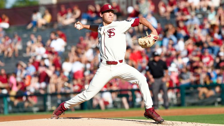 CJ Van Eyk set a career high with 10 strikeouts in Saturday's 10-1 win over Miami.