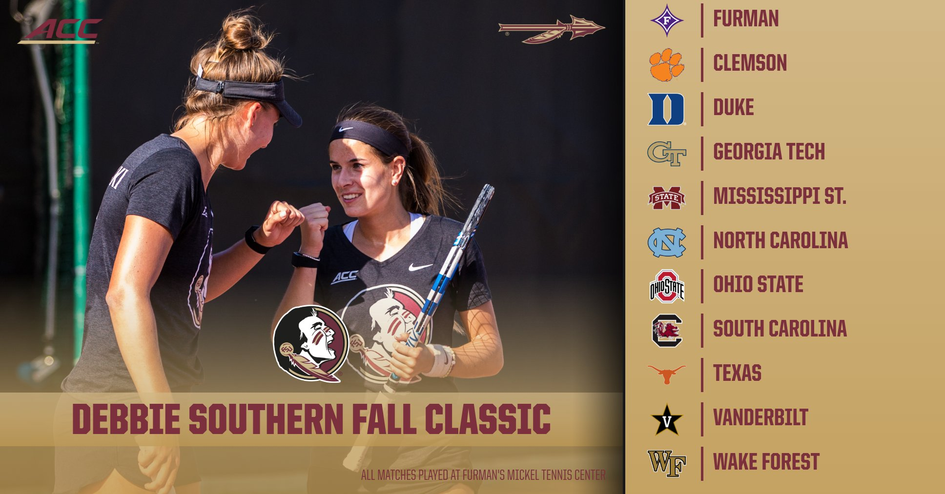 Women's Tennis Begins 2018 Fall Season at the Debbie Southern Fall Classic