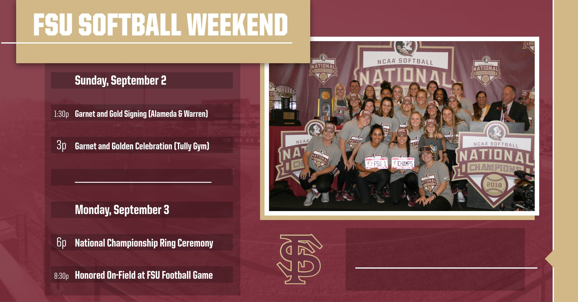 Celebrate With The National Champs This Weekend!