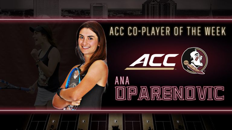 Oparenovic Earns ACC Co-Player of the Week