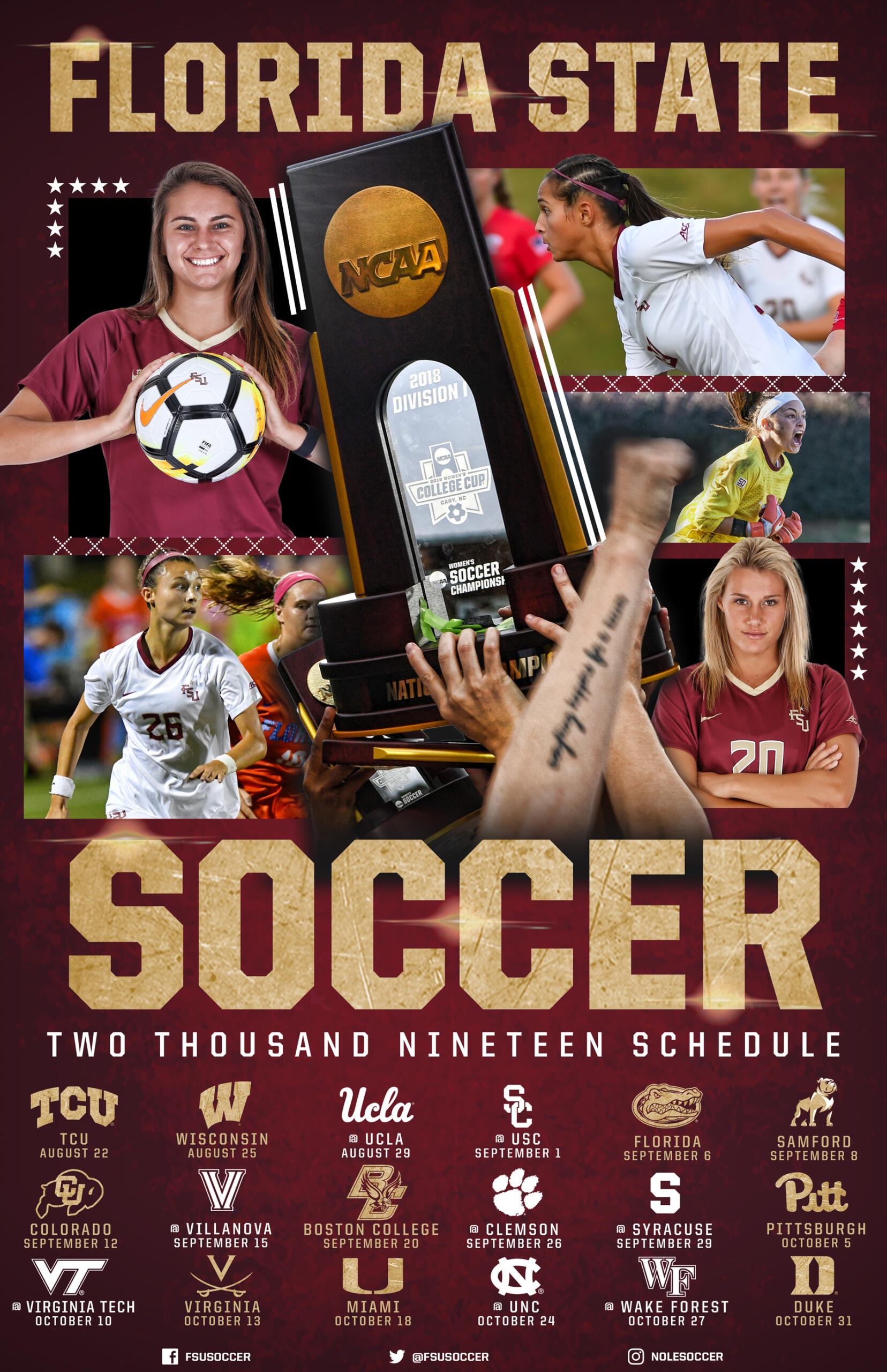 Florida State Soccer Releases 2019 Schedule