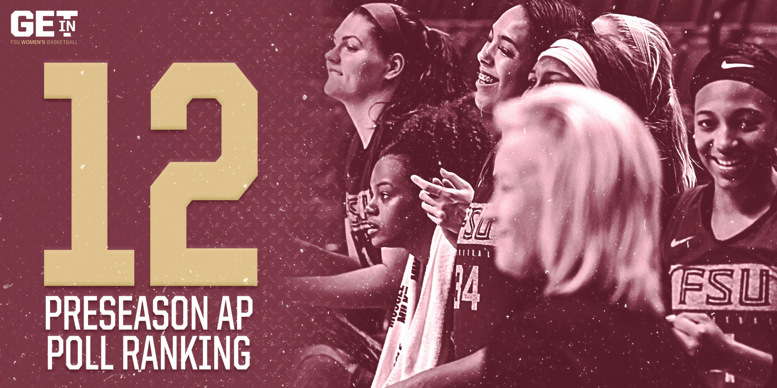 WOMEN'S BASKETBALL RANKED 12TH IN AP POLL