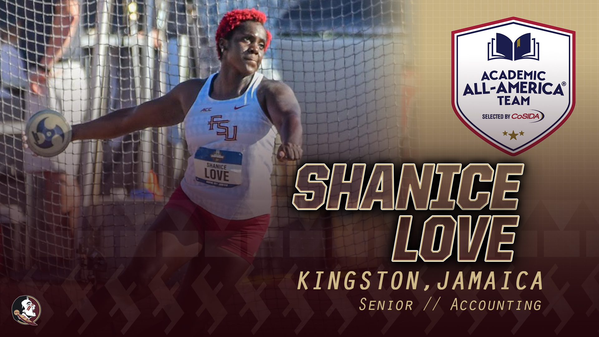 Love Adds To Legacy As Academic All-America Selection