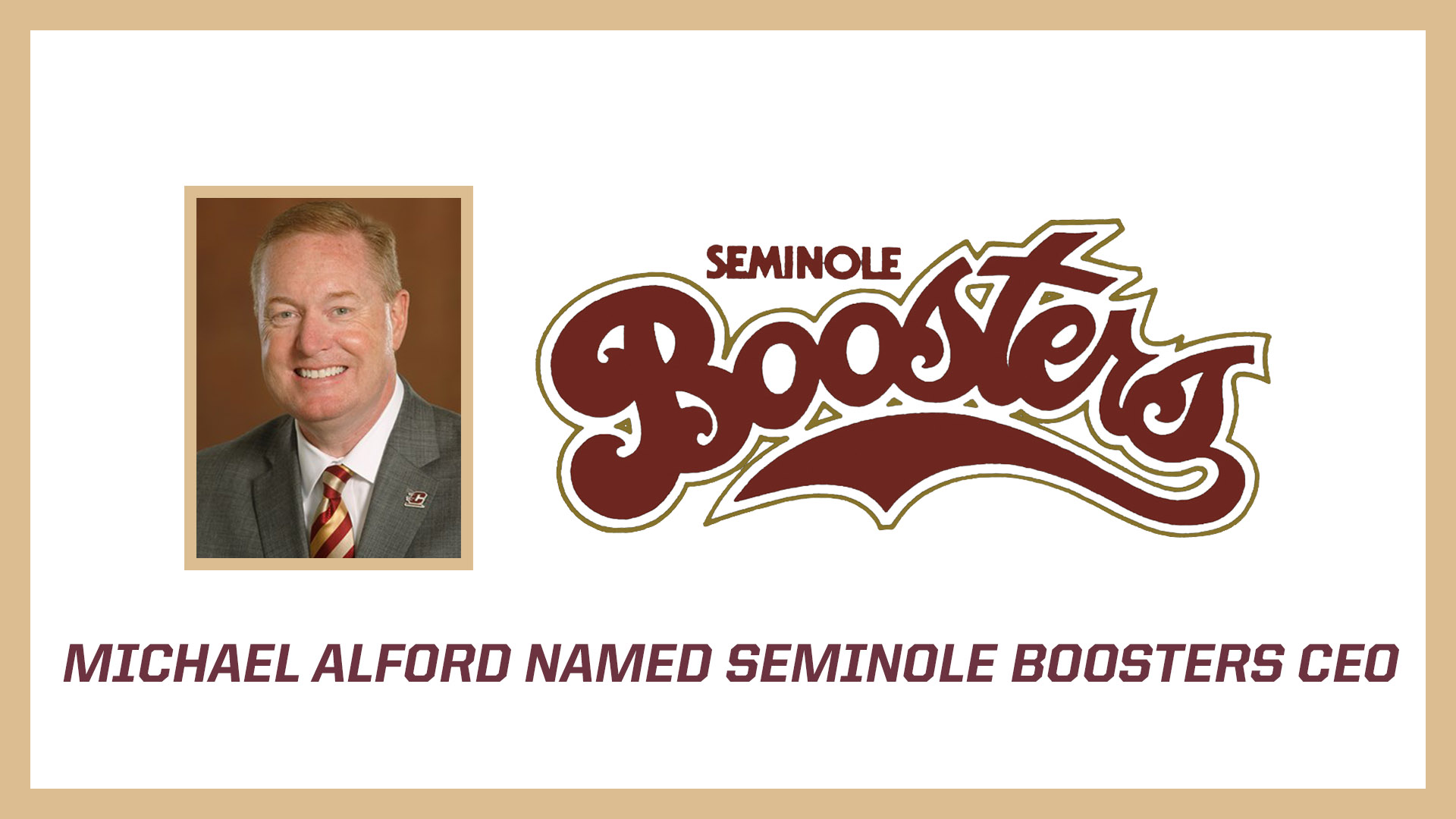 MICHAEL ALFORD NAMED CEO OF SEMINOLE BOOSTERS, INC.