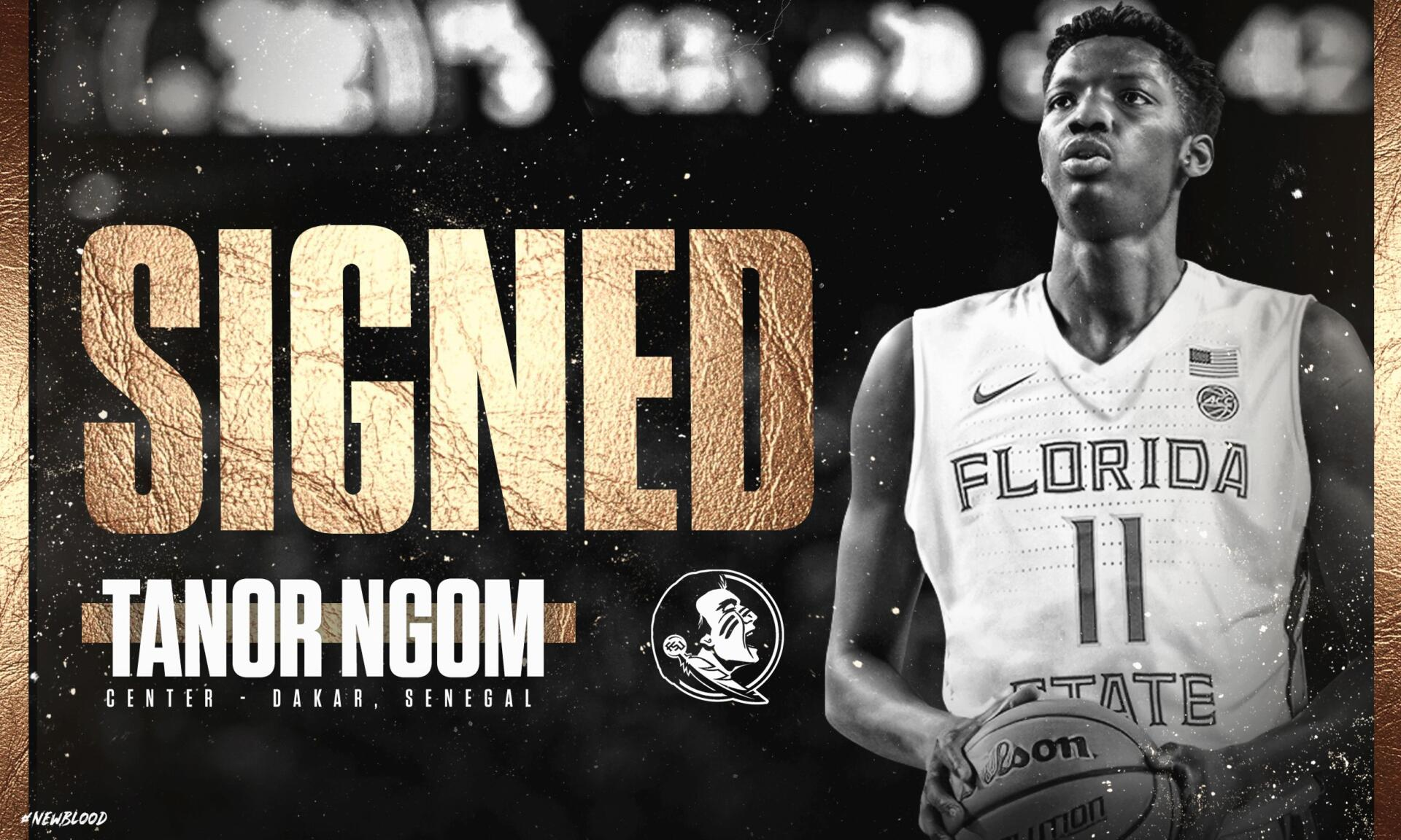 Tanor Ngom Signs Grant In Aid To Play Basketball