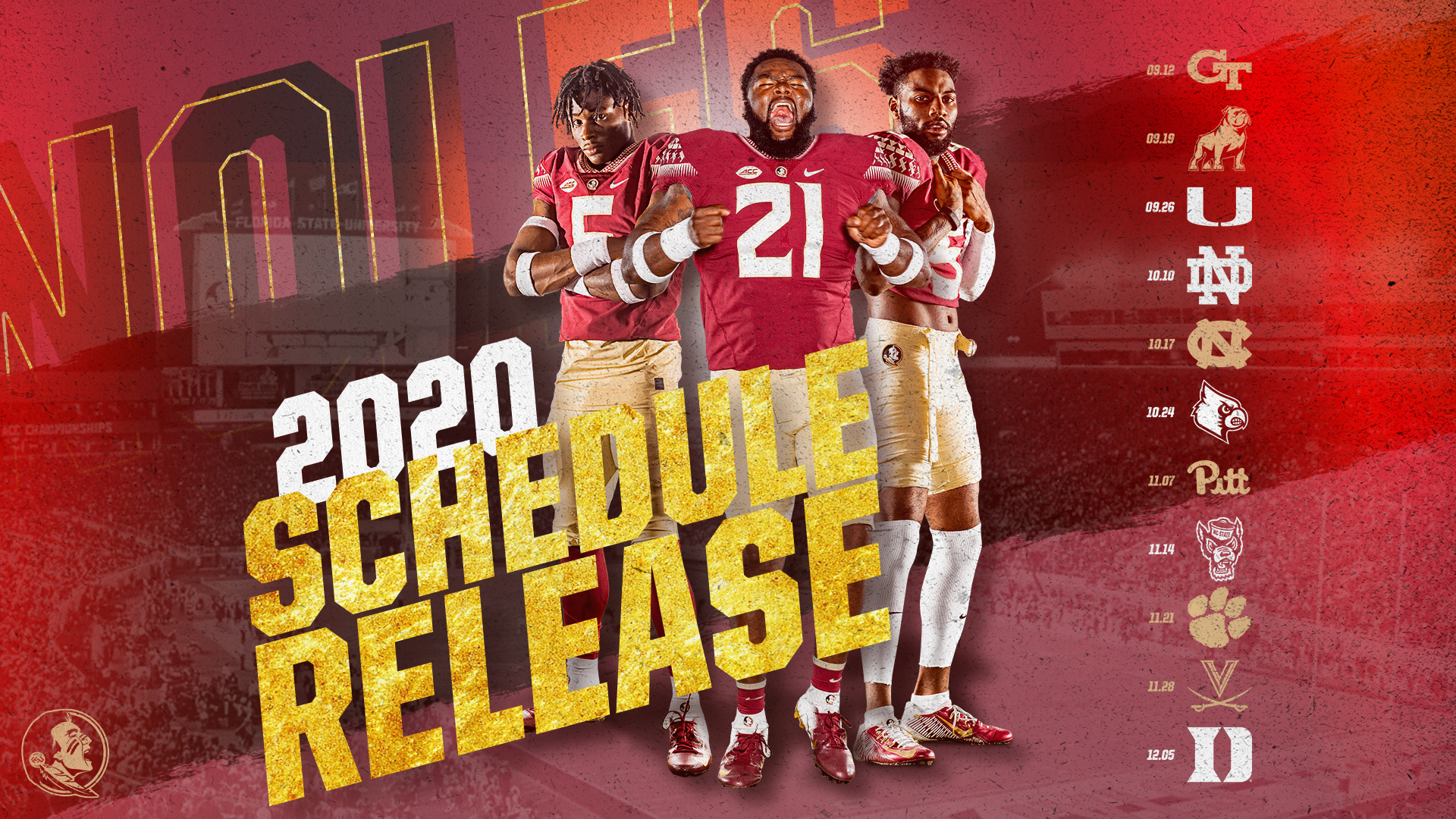 Florida State's Revised 2020 Schedule Released