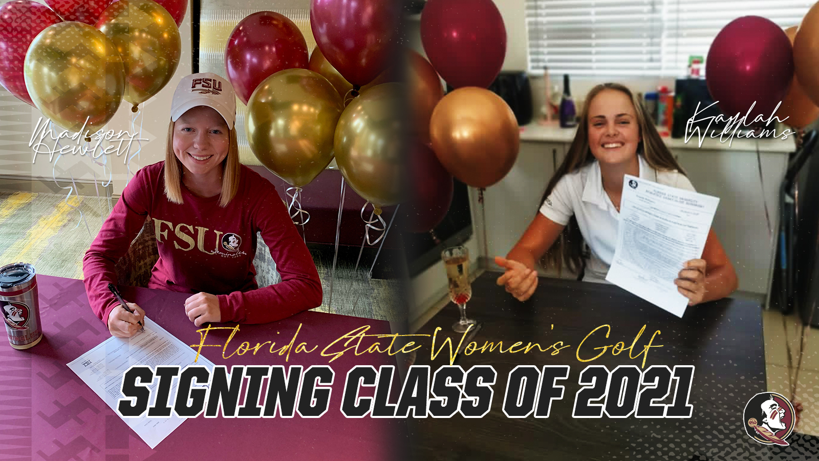 Women's Golf Signs Pair of Outstanding Players